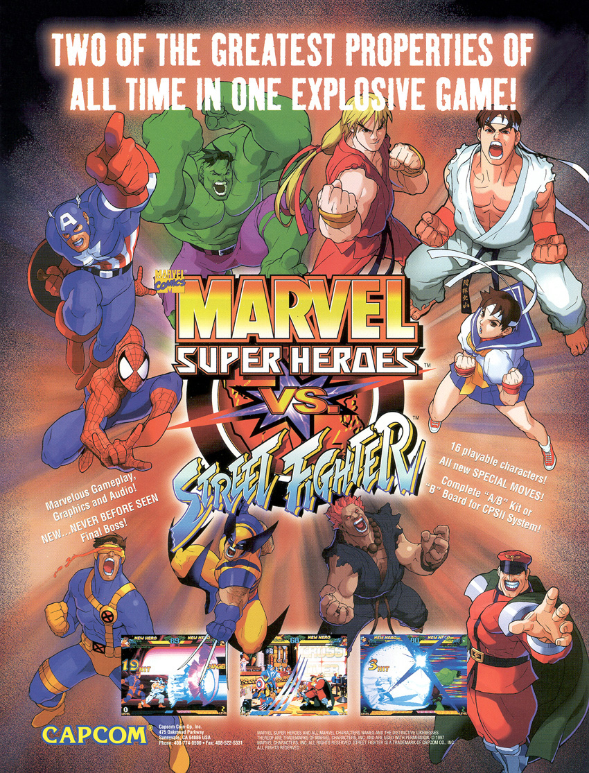 Marvel Super Heroes Vs Street Fighter (970625 Euro)
