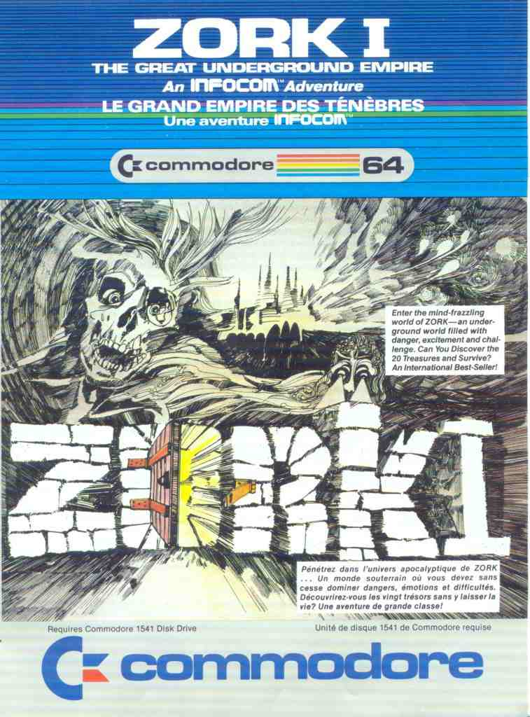 Zork I - The Great Underground Empire (USA, Europe) (R52) (C128) (Side 1)