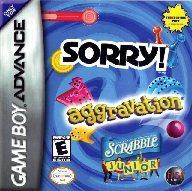 3 In 1 - Sorry Aggravation Scrabble Junior