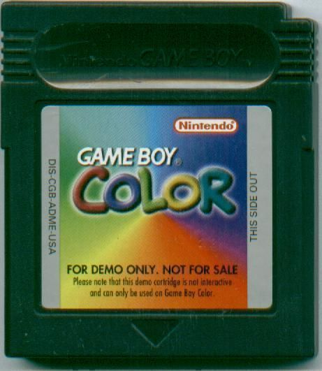 Gameboy Color Promotional Demo