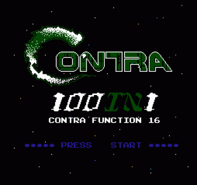 100 In 1 Contra Function 16 A1 Rom Nintendo Nes Emulator Games