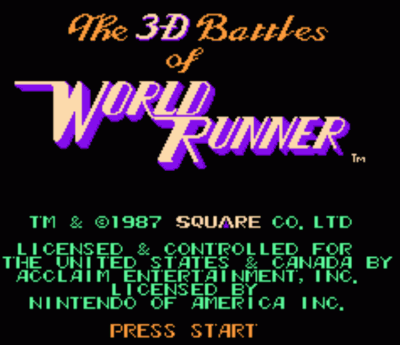 3-D Battles Of World Runner, The