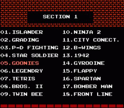 52 Games (Menu)