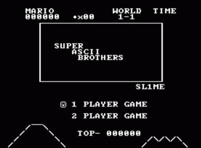 ASCII Mario (Final) (No Title) (SMB1 Hack)