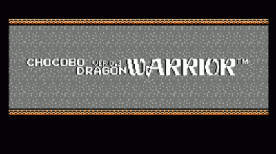 Chocobo DW V0.3 (Dragon Warrior Hack)