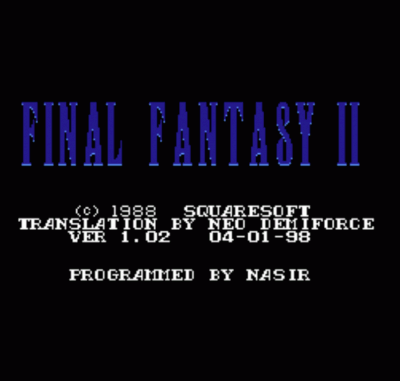 Final Fantasy 2 [T-French]