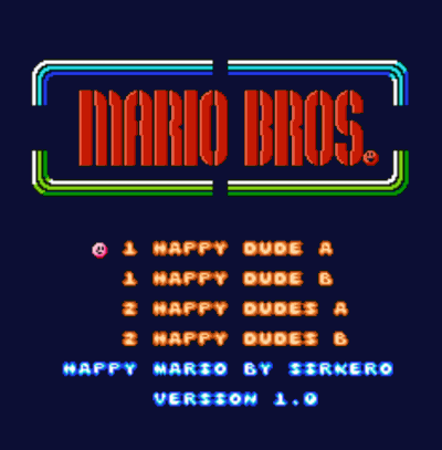 Happy Mario (Mario Bros Hack)