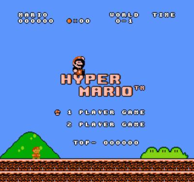 Hyper Mario (SMB1 Hack) [a2]