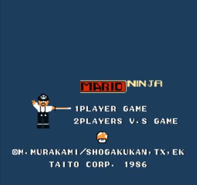 Mario Ninja (Musashi No Ken Hack)