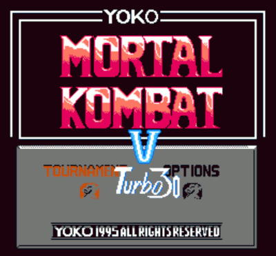 Mortal Kombat V1996 Turbo 30 Peoples