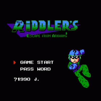 Riddler's Escape From Arkham (Mega Man 3 Hack)
