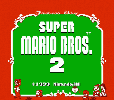Super Mario Bros 2 - Christmas Edition (SMB2 Hack) [a1]
