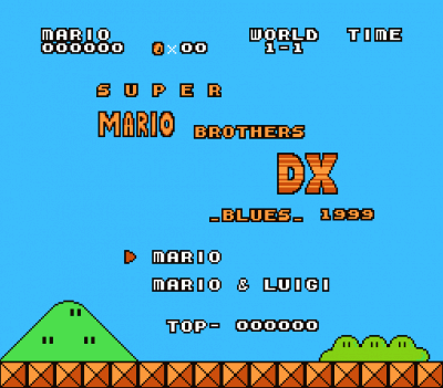 Super Mario Bros DX Blues (SMB1 Hack)