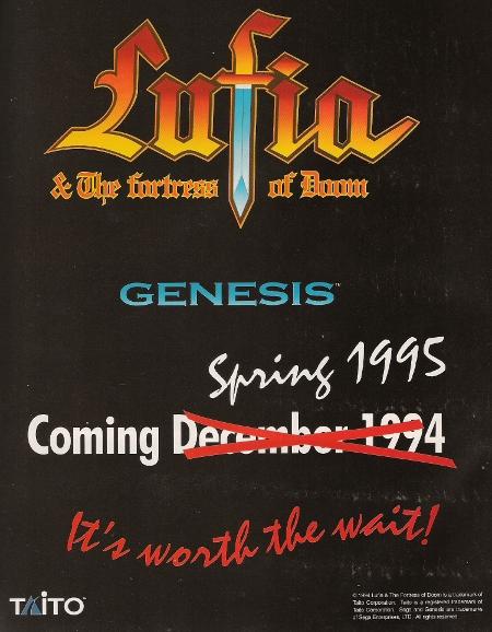 Lufia & The Fortress Of Doom (Proto)