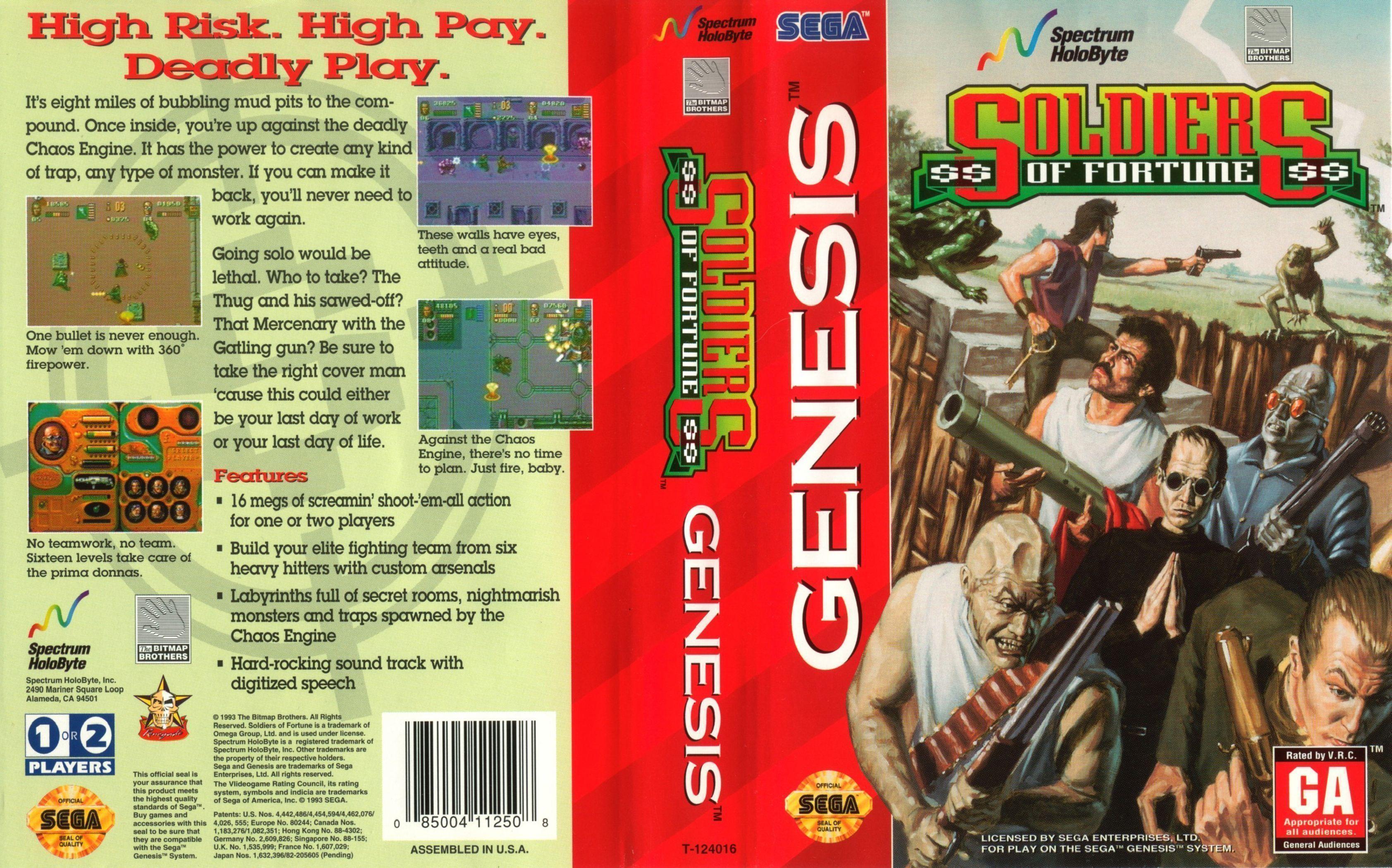 Soldiers Of Fortune [b1] ROM - SEGA Genesis (Genesis